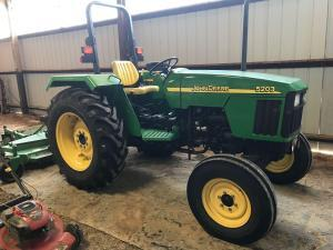 2005 John Deere 5203 Tractor, Frontier 8' Trim Mower, Modern Furniture