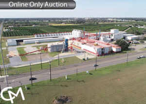 16+/- Acres Improved with 85,900 sf Warehouses, Shop, Office, and Grain Storage