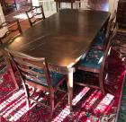 Solid Mahogany dining table with 2 leaves and 8 chairs