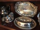 Lot of silverplate items, Newbury Port Pewter Towle cup