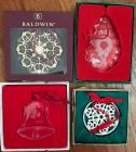 4 Christmas ornaments
