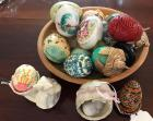 Lot of decorative eggs (some marble)
