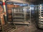 (2) Carry All Wire cages with 3 movable shelves on casters