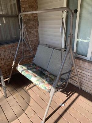 Patio swing and stand