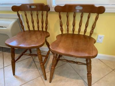 Qty 2 maple Chairs