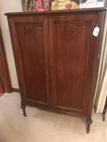 Vintage armoire on casters