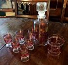 Cordial and decanter set