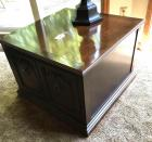 Square 2 door end table