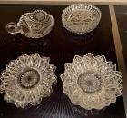 Lot of decorative glass saucers, nappie