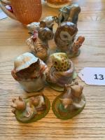5 Beatrix Potter figurines