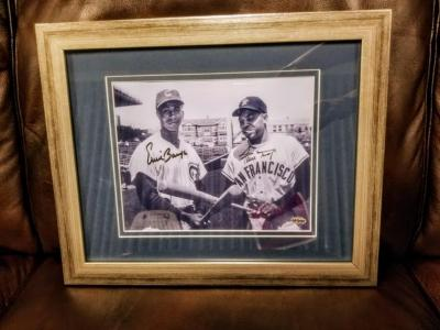WILLIE MAYS & ERNIE BANKSAUTOGRAPHED PHOTO