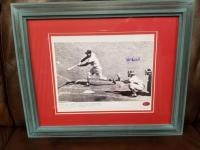 STAN MUCIAL AUTOGRAPHED PHOTO, 3000TH HIT