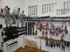 Large Group of Tools on Wall