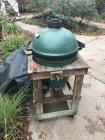 Green Egg smoker w/ wood stand