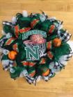 North Huskies Basketball Ribbon Wreath