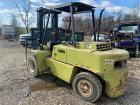 Clark C500 dual wheel forklift w/ non correct forks