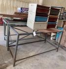 Metal table base and organizers