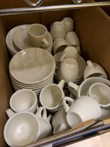 Misc espresso cups and plates