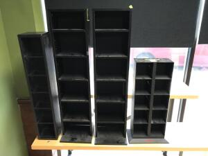4 CD & VHS tape cabinets
