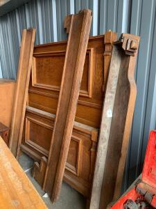 Antique headboard, footboard and rails