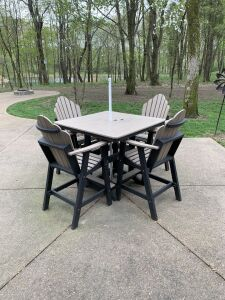 All weather table and 4 chair set