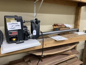 Craftsman 12 inch Wood Turning Lathe with tools