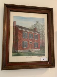 Shaker House by C G Morehead, Signed by Artist & Numbered