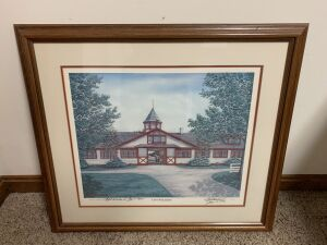 Calumet Barn by C G Morehead, Signed by Artist