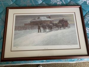 Wayne Baize signed and numbered print Winter Stage