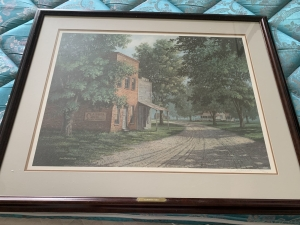 Jim Harrison sign and framed print Clabber Girl