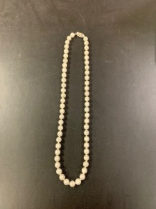 "16"" Strand of 6-6.5mm Fine White Cultured Pearls"