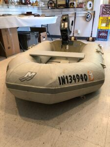 West Marine inflatable dingy w/ Nissan 3.5 hp outboard
