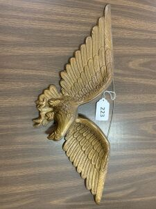 Cast iron eagle wall hanging
