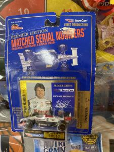 Indy Car First Series 1/64 Scale Michael Andretti Car, Home Snack and Fun Pack for Boys and Girls