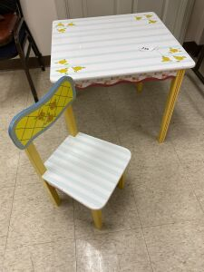 Child's table and one chair