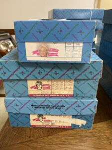 3 Madame Alexander dolls in boxes