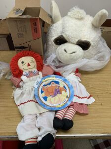 Raggedy Ann and Andy doll, Hercules plate,