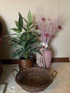 Two Artificial Plant Arrangements, Basket
