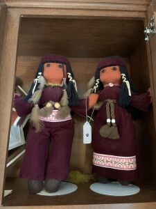 Two Native American Dolls