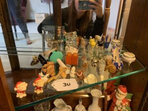 Figurines, mini perfume, misc