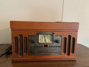 Crosley radio, record and CD player