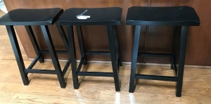 3 backless stools
