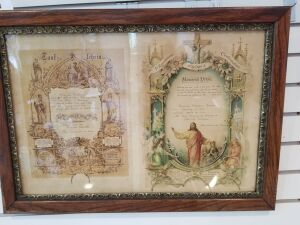 Framed Confirmation Certificate
