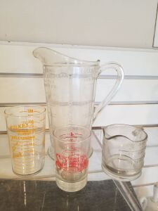 Vintage Glass Measuring Cups