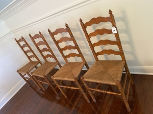 4 Tell City ladder back chairs Andover Maple