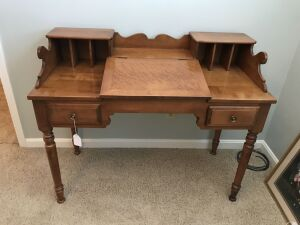 Tell City Young Republic Writing Desk w/ curly maple slant top