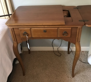 Singer Maple cabinet sewing machine