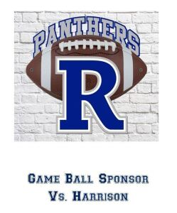 Game Ball Sponsor Vs. Harrison