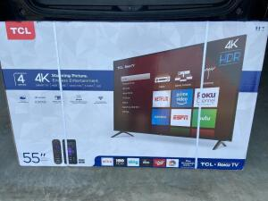 "TCL 55"" Smart TV 4K HD/Roku TV"