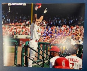 Autographed Photo of St Louis Cardinal Baseball Player